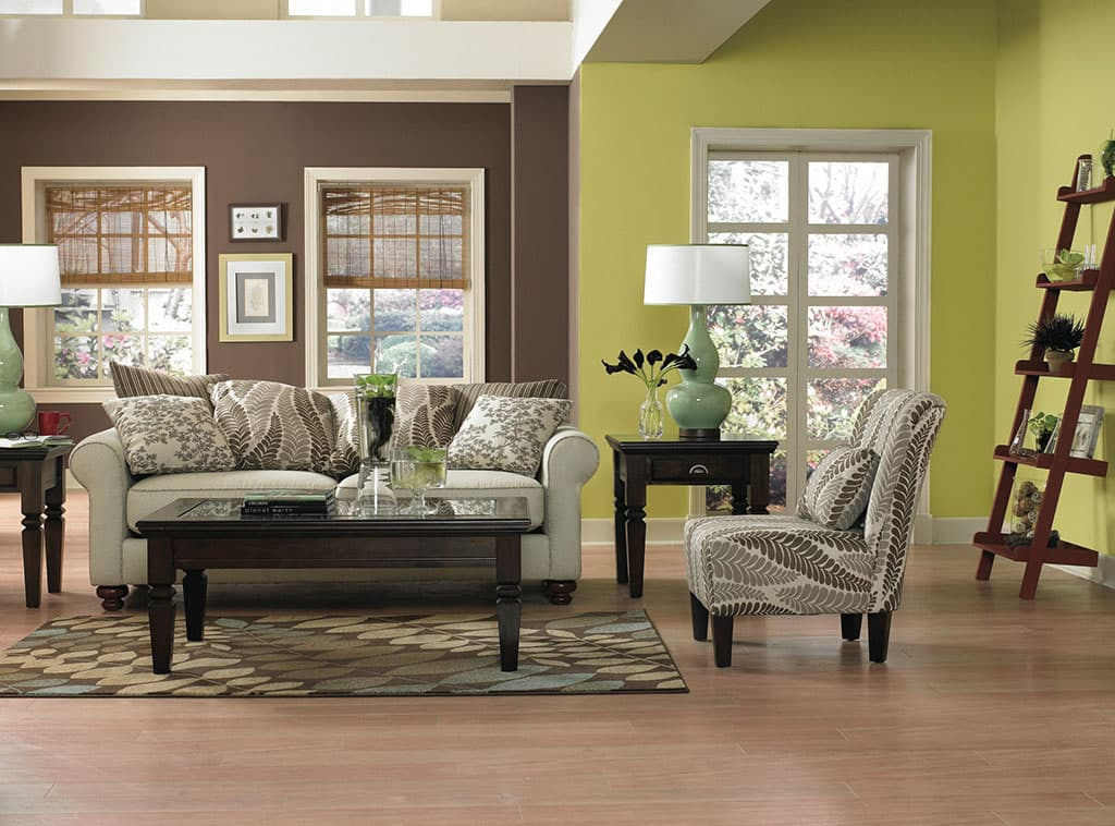 lime green and brown living room ideas rooms with leather 2 live a little interiors dutch boy