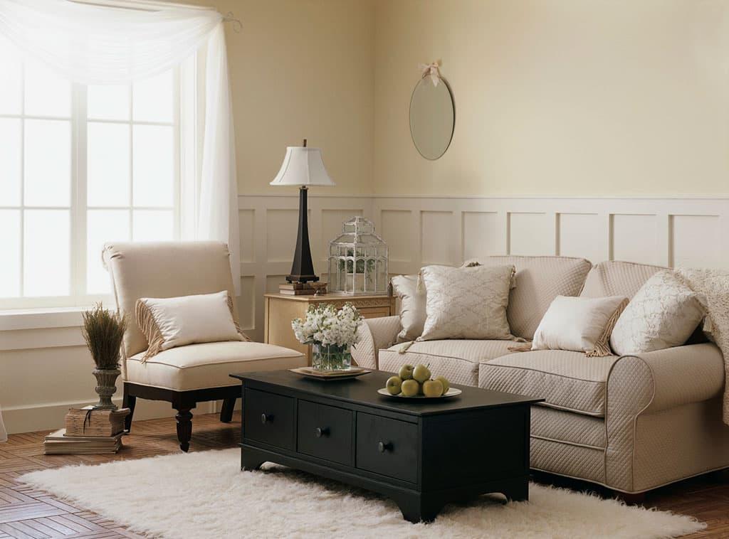 Monochromatic Magic  Living Room  Interiors  Room Scenes