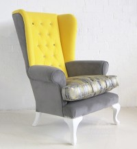 Victorian High Back Wing Chair / Fully Upholstered High ...