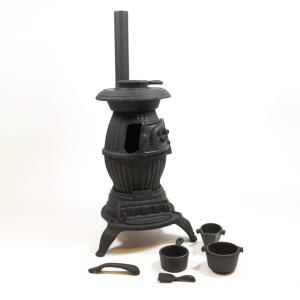 CAST IRON POT BELLY STOVE MINI
