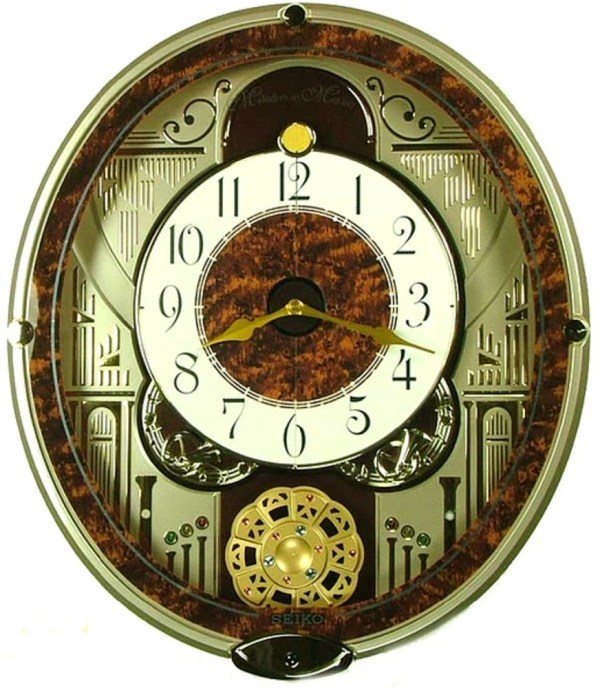 Melodies in Motion: French Horns Musical Wall Clock