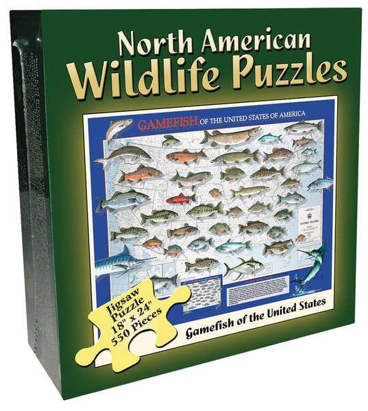 North American Wildlife Jigsaw Puzzle – Gamefish