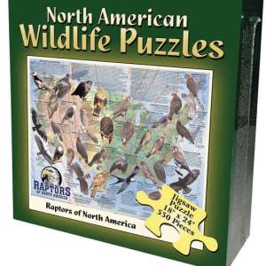 North American Wildlife Jigsaw Puzzle - Raptors