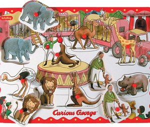 PEG PUZZLE CURIOUS GEORGE
