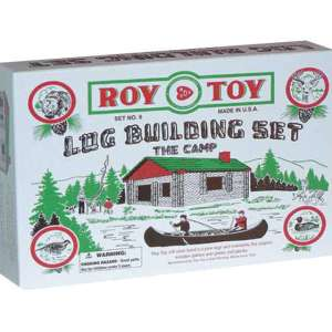 Roy Toy Log Cabin in a Box (37 pieces)