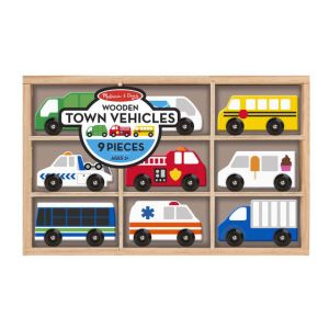 Wooden Town Vehicles Set
