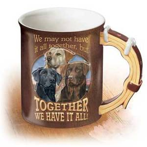 All Together – Dogs Sculpted Coffee Mug