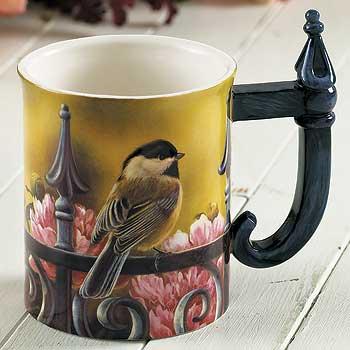 Backyard Beauty – Chickadee Sculpted Coffee Mug