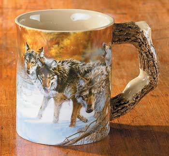 Body Language – Wolves Sculpted Coffee Mug