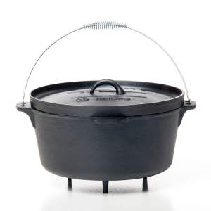 CAST IRON DUTCH OVEN 12QT W/FEET