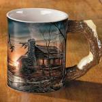 Golden Retreat – Cabin Sculpted Mug