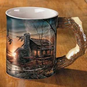Golden Retreat – Cabin Sculpted Mug