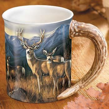 The Last Glance – Mule Deer Sculpted Coffee Mug