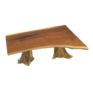 Coffee Table (Double Stump Matte Walnut)