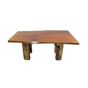 6' Table (Walnut Barn Beam Base)