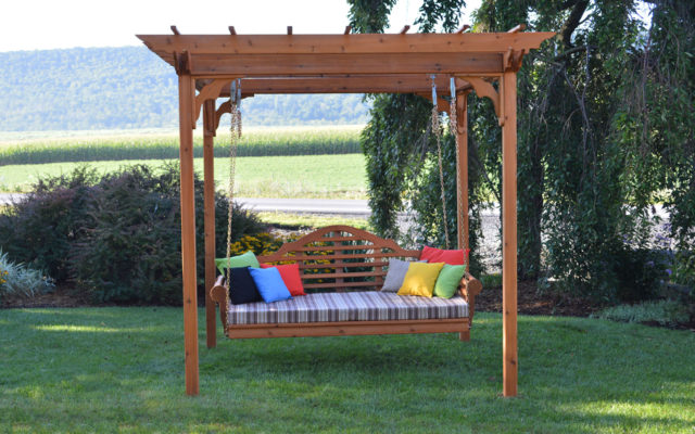 Outdoor Furniture 8' x 8' Pergola w/ Swing Hangers