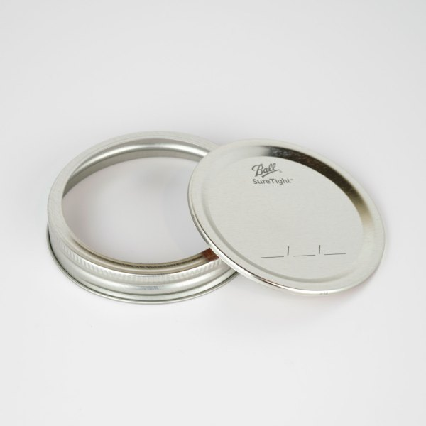Ball Canning Lids With Bands Wide Mouth 12ct