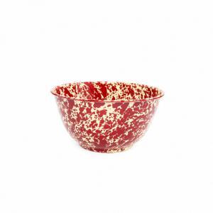 Burgundy Splatter 4 quart Large Salad Bowl