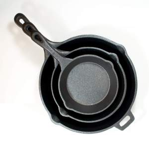 Cast iron skillet set 3 pc