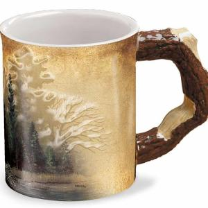 Misty Forest Sculpted Coffee Mug