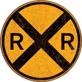 RAILROAD CROSSING TIN