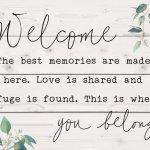 Welcome - You Belong Pallet Decor