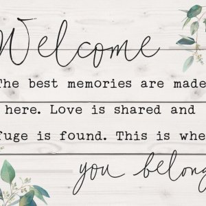 Welcome - You Belong Pallet Decor