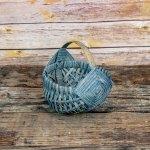 6 inch Melon Egg Basket Gray