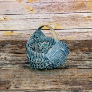 6 inch Melon Egg Basket Gray
