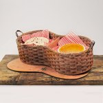 6 Pie Basket with Tray Brown