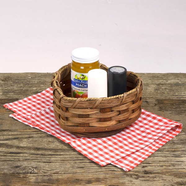 Lazy Susan Heart Basket – Small Brown