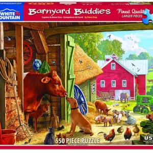 White Mountain Puzzle - Barnyard Buddies