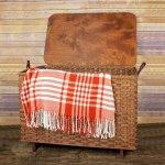 Large Blanket Basket Lid Brown