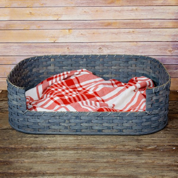 Medium Dog Bed Basket Gray