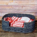 Extra Small Dog Bed Basket Gray