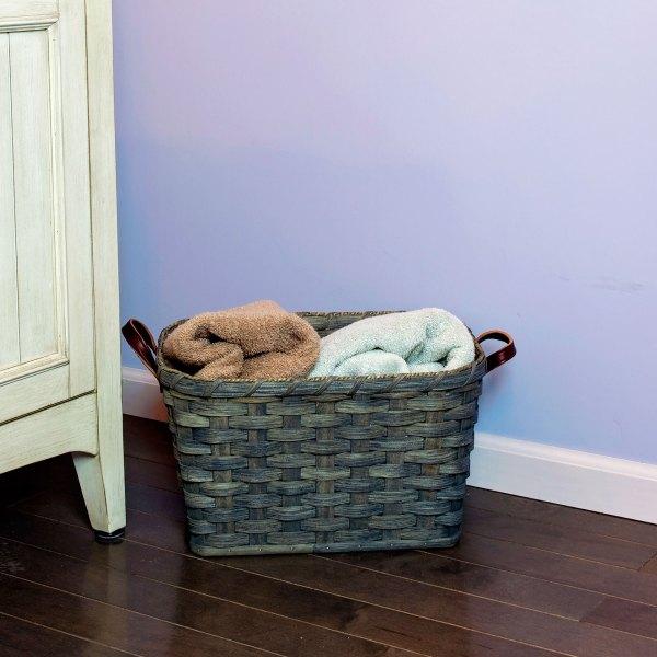 Small Laundry Basket Gray