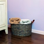 Medium Oval Laundry Basket Gray
