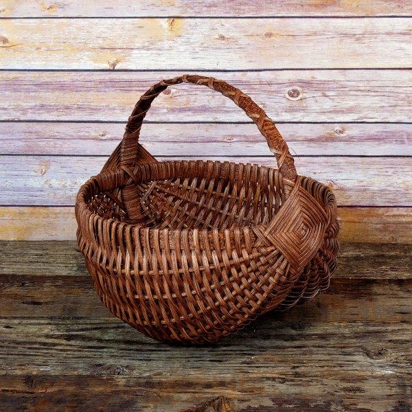Medium Regular Egg Basket Brown