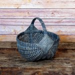 Small Regular Egg Basket Gray