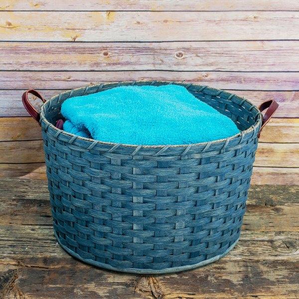 Large Round Laundry Basket Gray