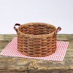 Round Paper Plate Basket Brown