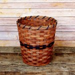 Small Round Waste Basket Brown