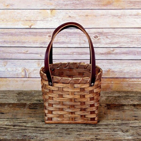 Small Shopping Bag Basket Brown
