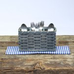 Silverware Basket Gray