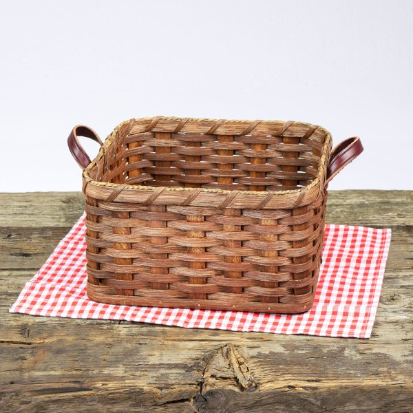 Square Paper Plate Basket Brown
