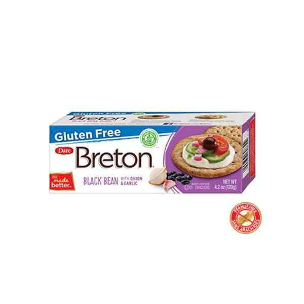 Breton Gluten Free Black Bean Onion & Garlic Crackers