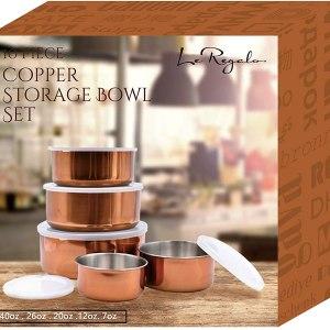 Le Regalo Copper 10 Pc Storage Bowl Set
