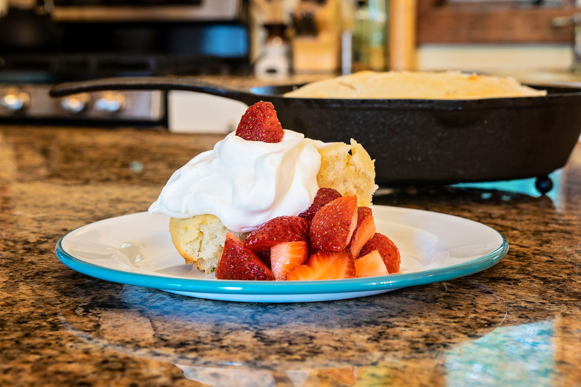 Homemade Strawberry Shortcake and Fresh Whipped Cream