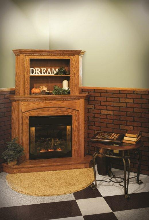 Space Saver: Corner Fireplace - TIMBER TO TABLE
