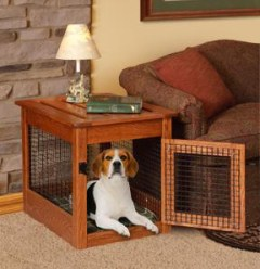 Amish Dog Crate End Table